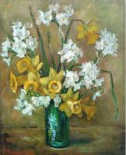 Vase of Daffodils Still Life