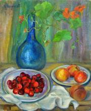 Peaches and Cherries Still Life