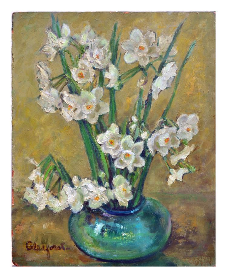 Vase of Daffodils Still Life