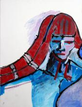 Red, White and Blue Figurative Abstract