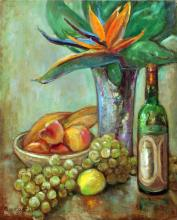 Bird of Paradise with Fruit Still Life