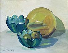Fishing Float and Bowls Still Life