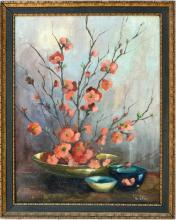 Quince Blossoms Still Life