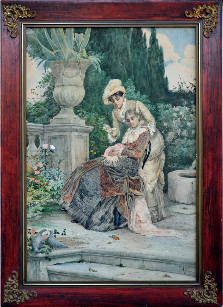 1890s Ladies in the Italian Garden