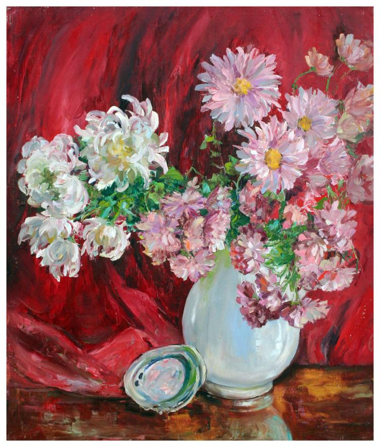 Spring Dahlias by Helen Gleiforst