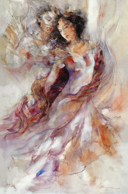 Gary Benfield- Purple Shawl Limited Edition Giclee on Canvas