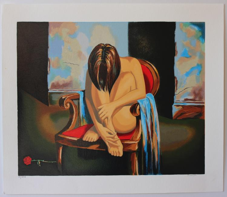 Alexander Borewko Sensual Moments Limited Edition Serigraph