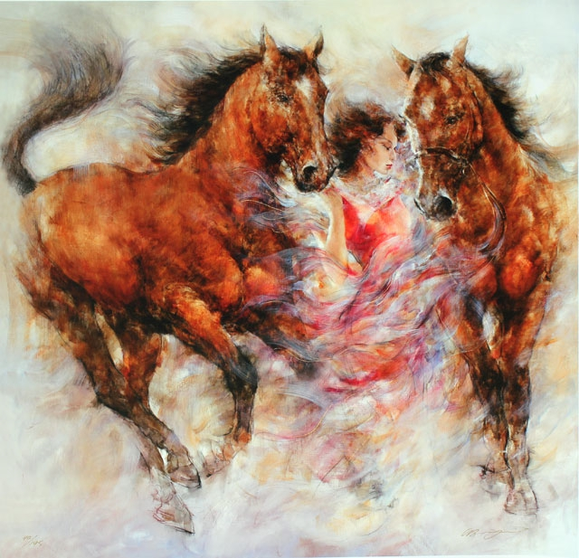Gary Benfield- Spirit III Limited Edition Giclee on Canvas LE