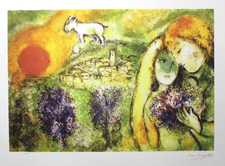 Marc Chagall Limited Edition Lithograph Signed & Numbered