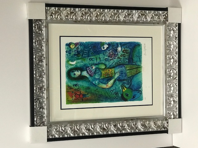 Marc Chagall Custom Framed Lithograph Limited Edition S&N