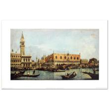 """""""Canal of San Marco with the Piazza San Marco"""" Fine Art Print by Canaletto (1697-1768), Created with EncreLuxe Printing Process Which Captures the Subtle Nuance of Color from the Artist's Palette."""