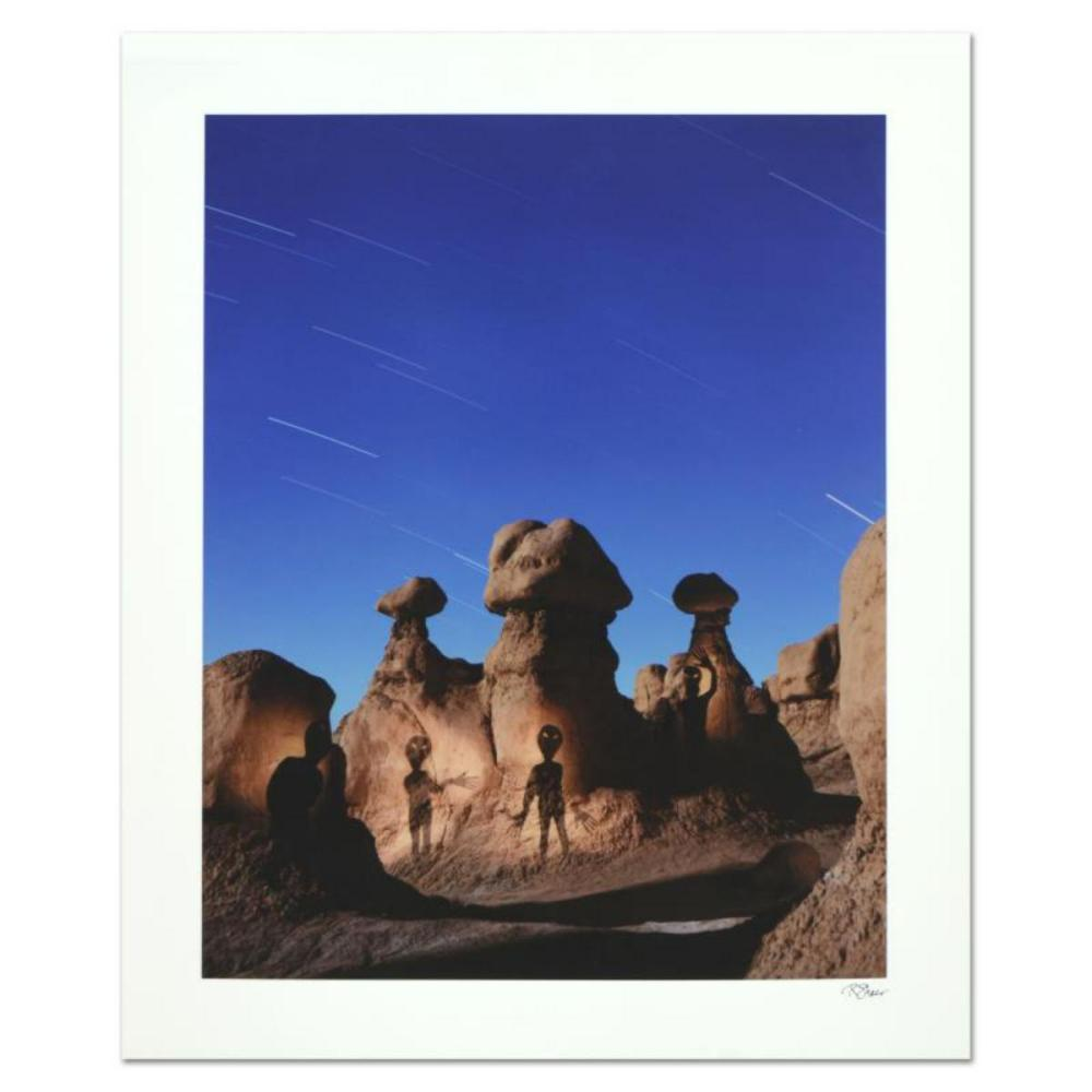 """Robert Sheer, """"Aliens in Goblin Valley Sign"""" Limited Edition Single Exposure Photograph, Numbered and Hand Signed with Certificate of Authenticity."""