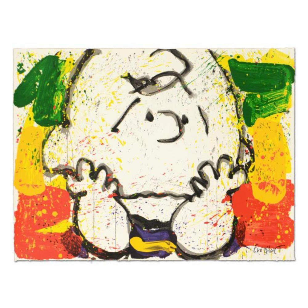 """Tom Everhart- Hand Pulled Original Lithograph """"Call Waiting"""""""