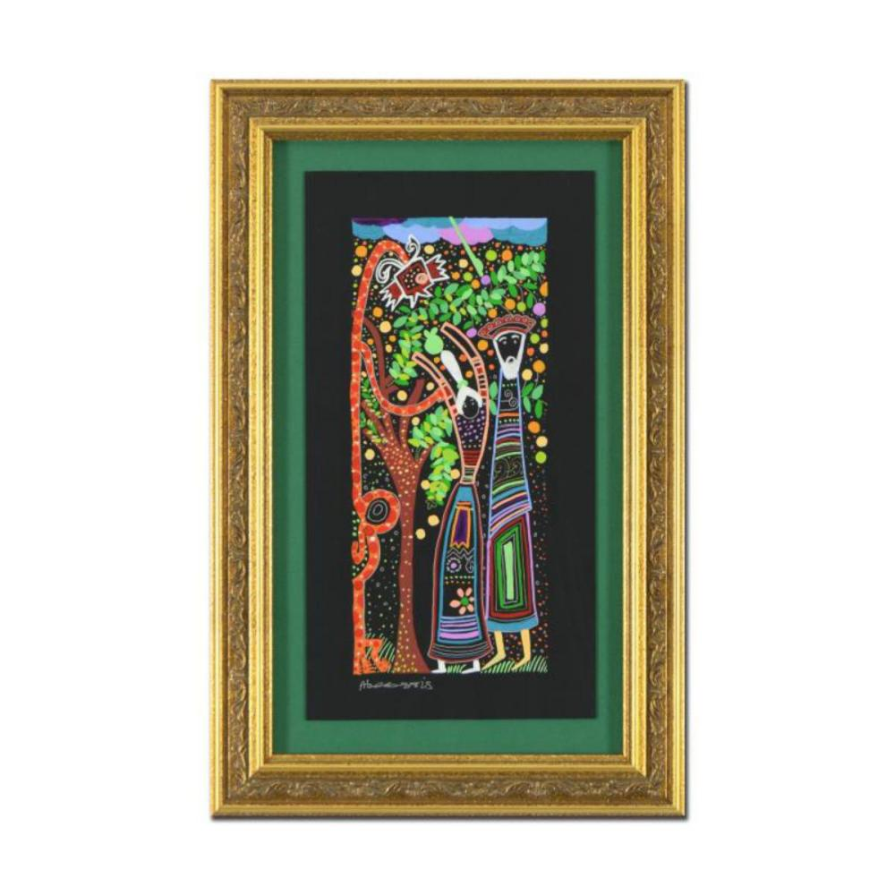 """Raphael Abecassis""""The Devious Snake"""" Hand Signed Framed Original Painting with COA."""