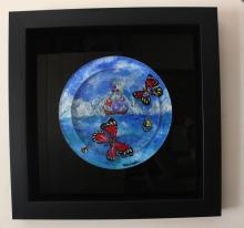 Surrealism Framed Ori. Acrylic Sculpture Eugene Poliarush