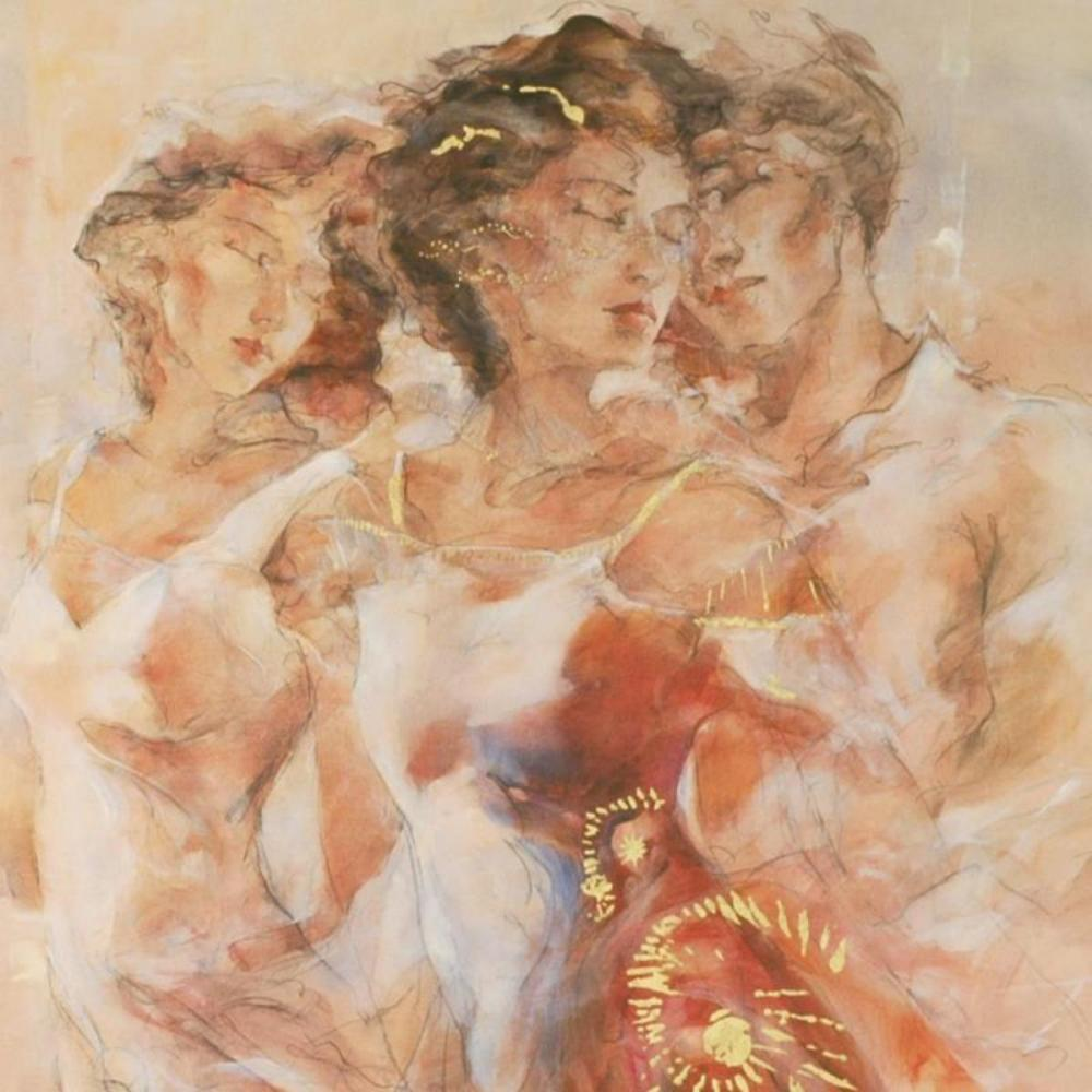"""GARY BENFIELD /""""LOVE SECRETS/"""" Hand Signed Limited Edition Serigraph"""