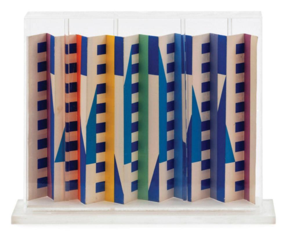 """Yaakov Agam (b. 1928) – """"Tribute of the People of Israel to the People of the United States"""" – Agamograph"""