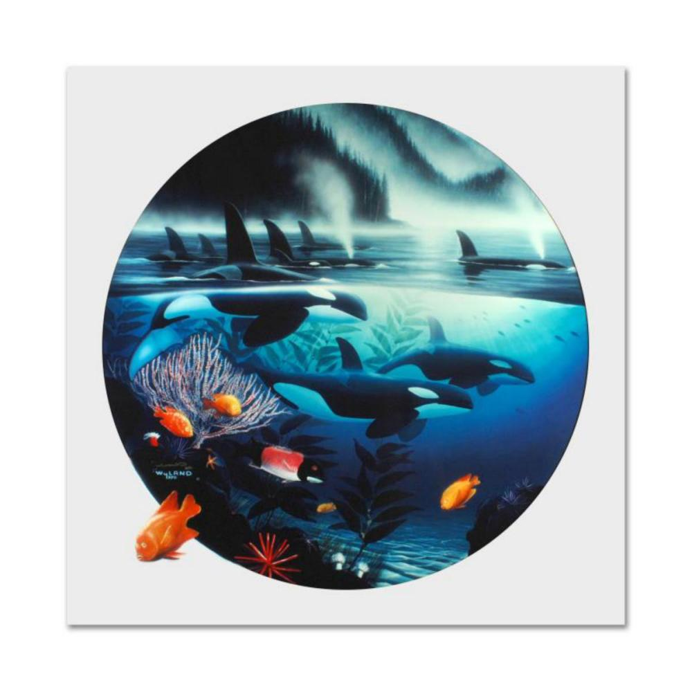 """Wyland, """"Orca Journey"""" Limited Edition Cibachrome, Numbered and Hand Signed with Certificate of Authenticity."""