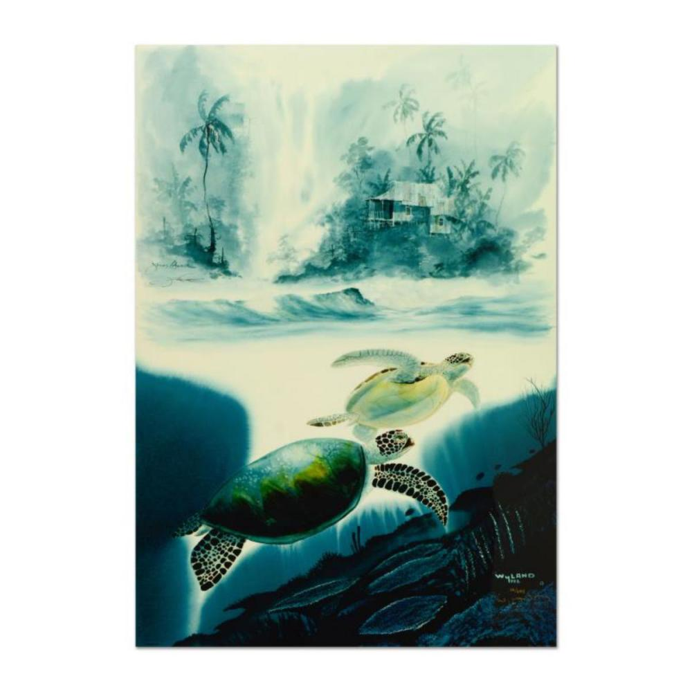 """Wyland & James Coleman, """"Turtle Waters"""" Limited Edition Cibachrome, Numbered and Hand Signed with Certificate of Authenticity."""