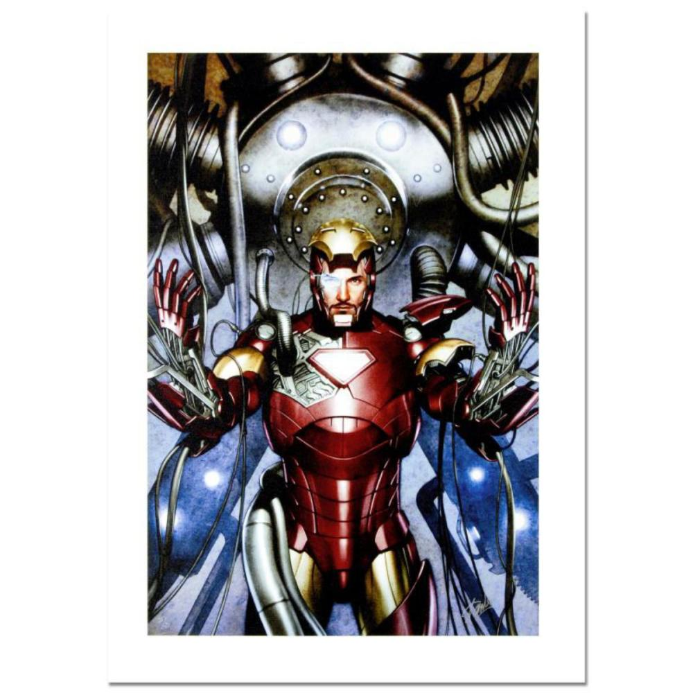 """Stan Lee Signed, """"Iron Man: Director of S.H.I.E.L.D. #31"""" Numbered Marvel Comics Limited Edition Canvas by Adi Granov and Marvel Comics and Hand Signed by Stan Lee with Certificate of Authenticity."""