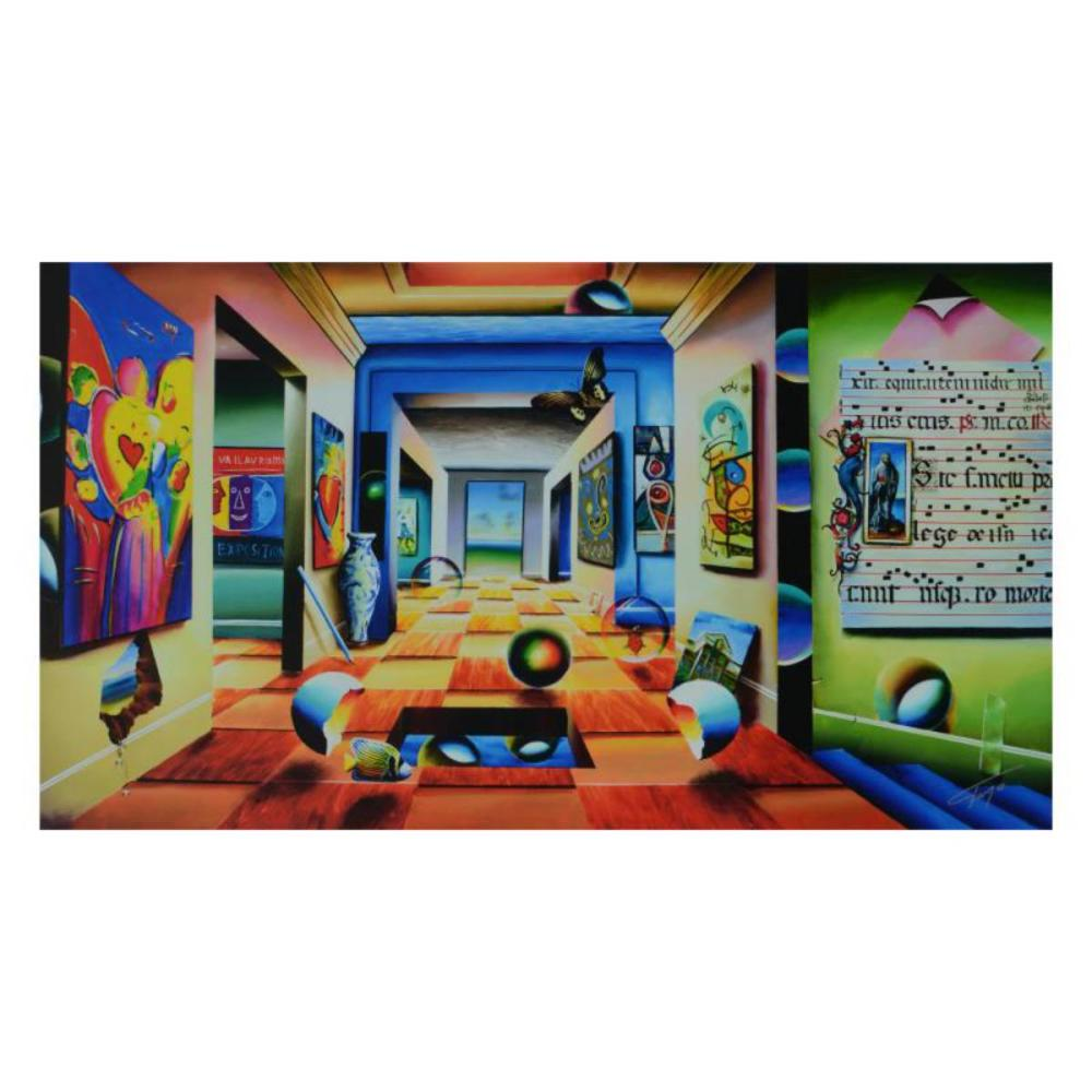 """Ferjo, """"A Room of Genius"""" Limited Edition on Canvas, Numbered and Signed with Letter of Authenticity."""