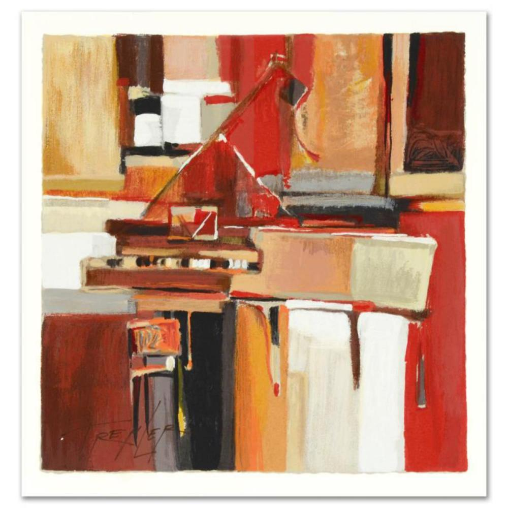 """Yuri Tremler, """"Piano"""" Limited Edition Serigraph by Yuri Tremler, Hand Signed with Certificate of Authenticity."""