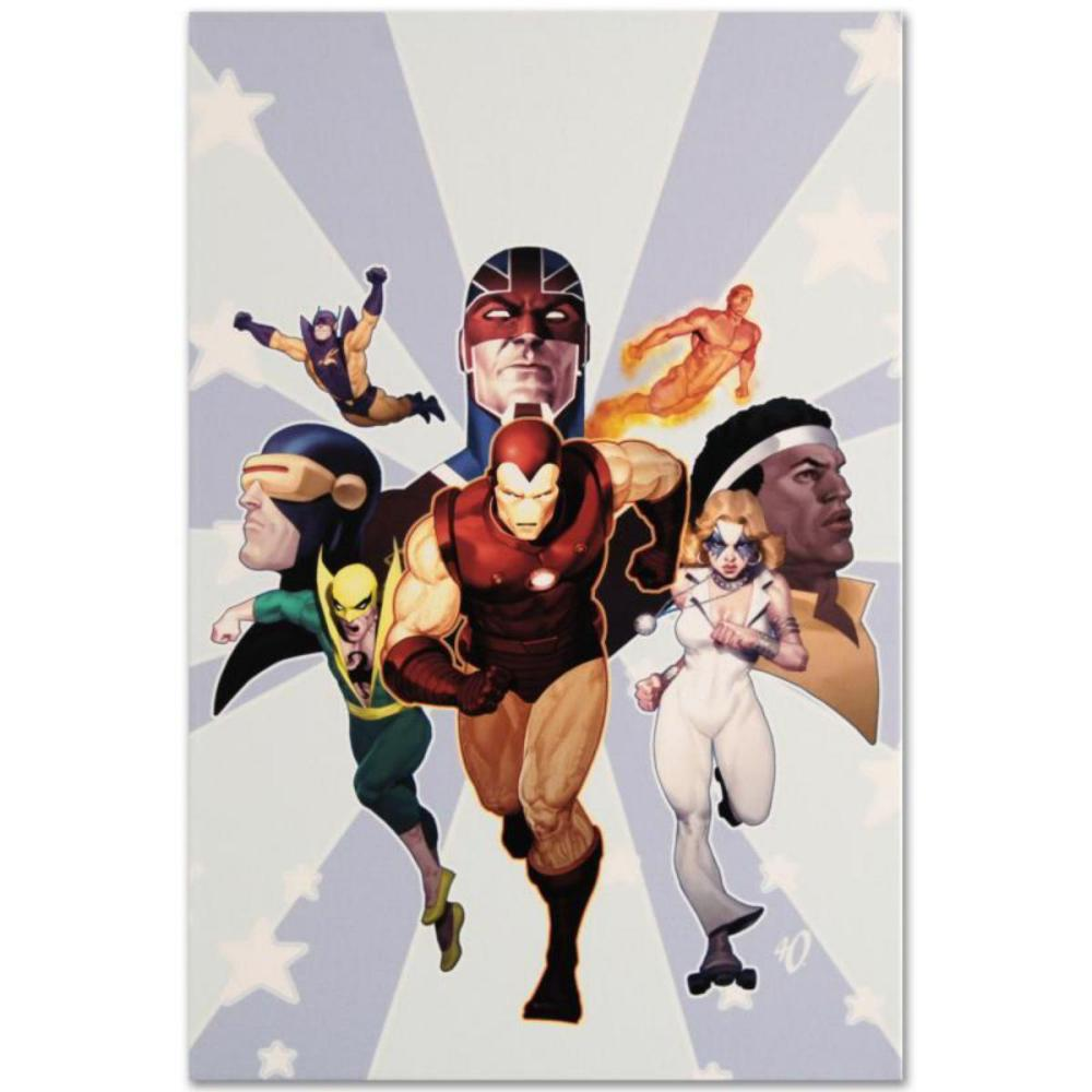 """Marvel Comics """"Iron Age: Omega #1"""" Numbered Limited Edition Giclee on Canvas by Ariel Olivetti with COA."""