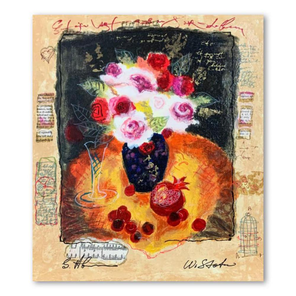 """Alexander Galtchansky (1959-2008) and Tanya Wissotzky (1959-2006), """"Red Cherries"""" Hand Signed Limited Edition Serigraph on Paper with Letter of Authenticity."""
