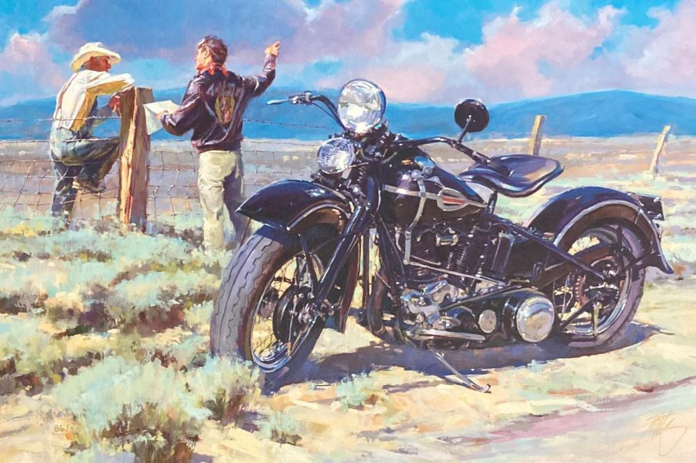 """Tom Fritz- Original Giclee on Canvas """"Barb Wire"""""""