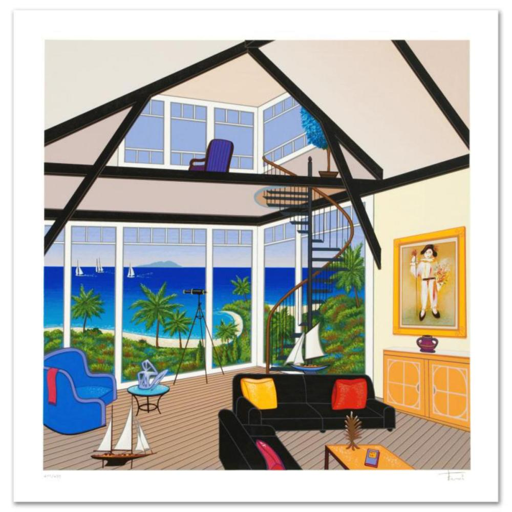 """""""Duplex Over Stinson"""" Limited Edition Serigraph by Fanch Ledan, Numbered and Hand Signed with Certificate of Authenticity."""