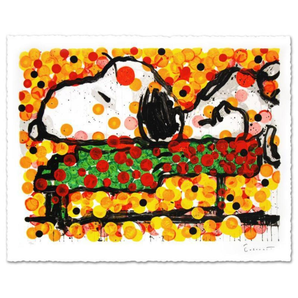 """""""Play that Funky Music"""" Limited Edition Hand Pulled Original Lithograph by Renowned Charles Schulz Protege, Tom Everhart. Numbered and Hand Signed by the Artist, with Certificate of Authenticity."""