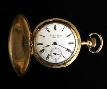 14KGF 0's United States Watch Co. 7J Pocket Watch c-1903