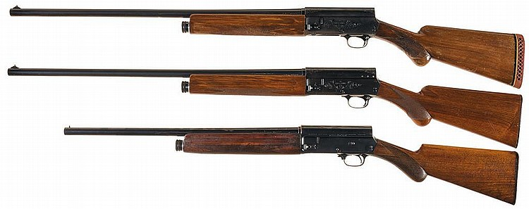 Three Browning Semi-Automatic Shotguns -A) Engraved Grade I