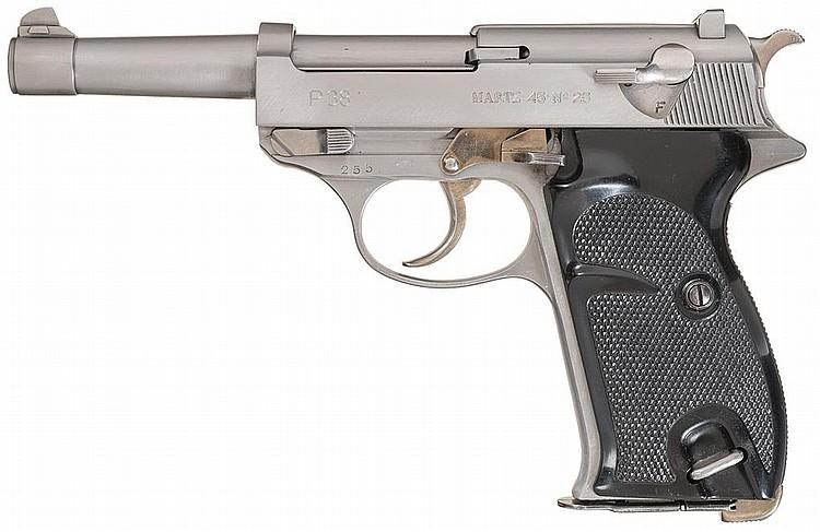 Walther/John Martz Custom P-38 Pistol with 45 ACP Chambering