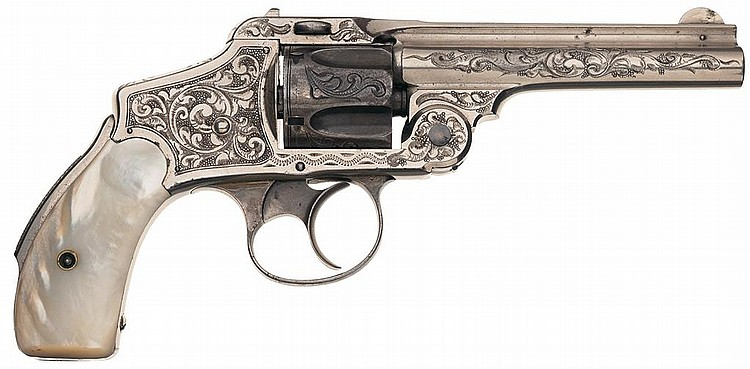New York Engraved Smith & Wesson First Model Safety