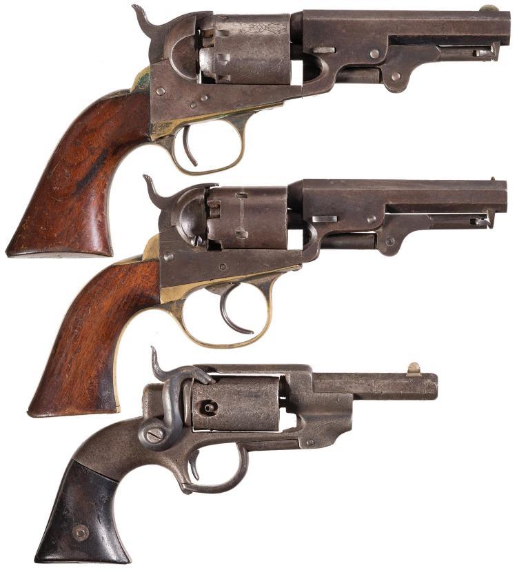 Three Civil War Era American Percussion Revolvers