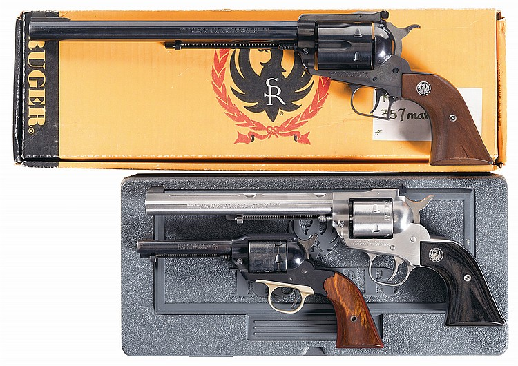 Three Ruger Single Action Revolvers -A) Ruger New Model