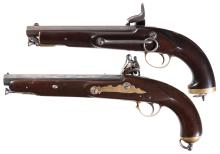 Two Reproduction Tower Pistols with Bring Back Papers