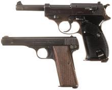 Two Nazi Marked World War II Semi-Automatic Pistols