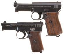 Two Mauser Sporting Semi-Automatic Pistols