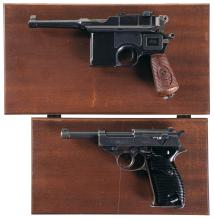 Two German Semi-Automatic Pistols with Cases