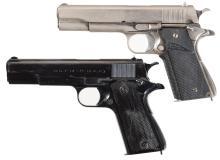 Two Argentine Model 1927 Semi-Automatic Pistols
