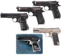 Five Semi-Automatic Pistols