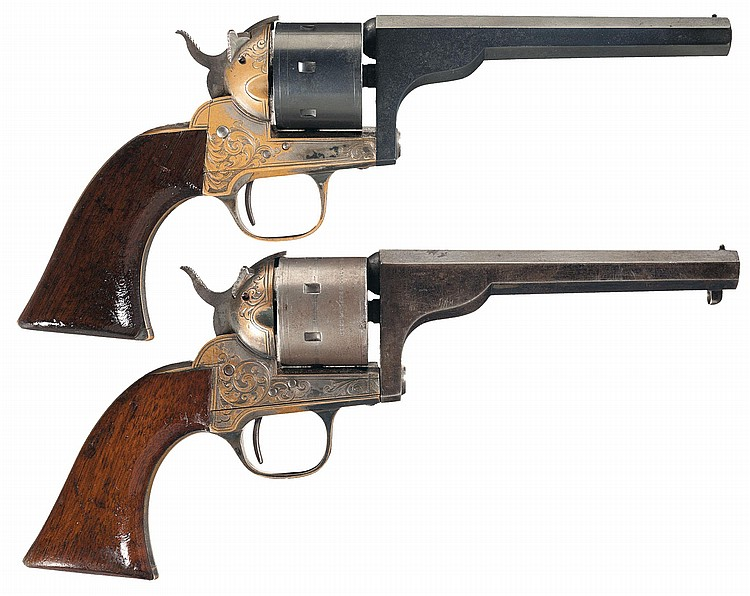 Collector's Lot of Two Moore Patent Single Action Belt Revolvers