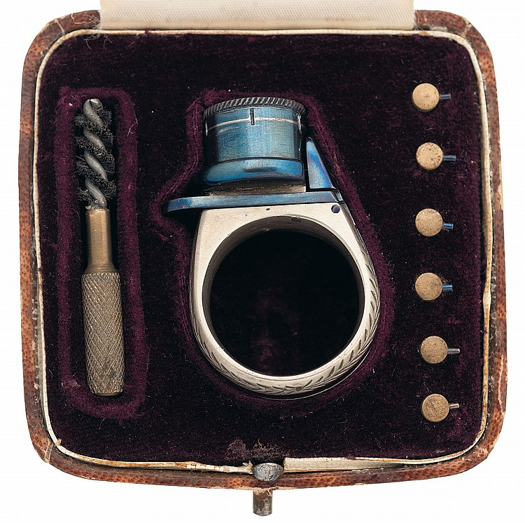 Very Fine Cased Le Petit Protector Ring Gun