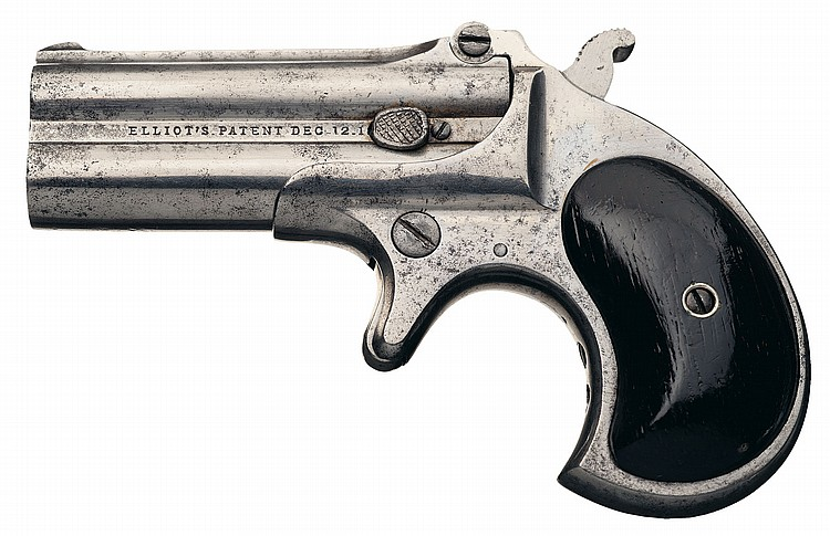 Rare 1 of 100 Remington Type I Transitional Over/Under Derringer