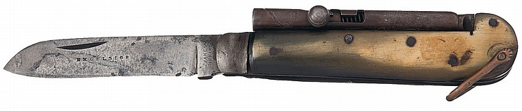 Unique James Tidmarsh Excelsior Marked Percussion Knife Pistol