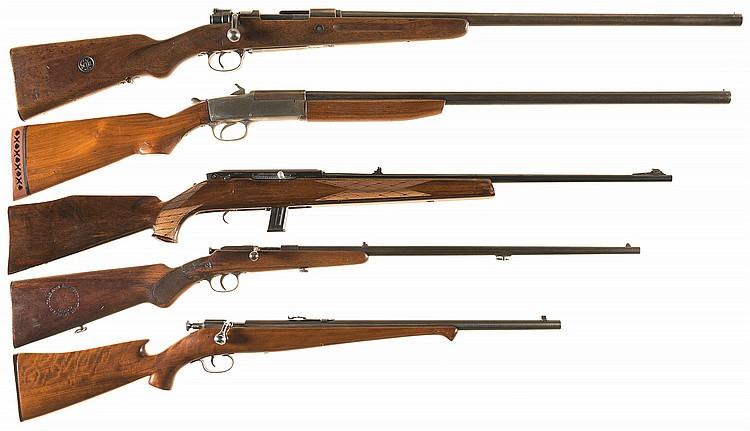 Five Long Guns -A) Mauser K98 Geha Bolt Action Shotgun