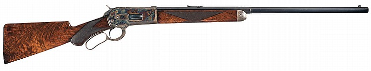 Outstanding Documented Special Order Winchester Model 1886 Deluxe .50 Caliber Express Sporting Rifle with Factory Letter