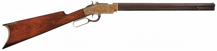 Scarce New Haven Arms Co., Engraved, Volcanic Lever Action Carbine